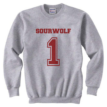 Sourwolf 1 Maroon ink teen wolf beacon hills lacrosse Unisex Crewneck Sweatshirt S to 3XL