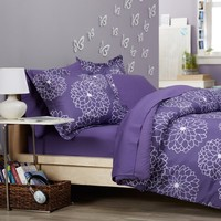 Pinzon by Amazon 5-Piece Bed In A Bag - Twin,  Purple Floral