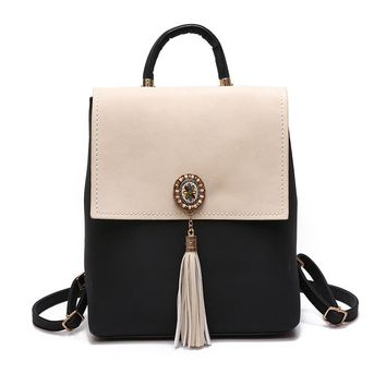 Women Small Backpack Leather Backpack Cute School Bags for Girls Fashion Shoulder Bag