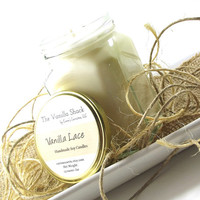 Vanilla Lace scented Soy Candle, Vanilla Candle, All Natural Candle, Handmade Candles, Jar Candles, Natural Candle, Gifts for Home, 12 Ounce