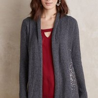 Knitted & Knotted Fete Draped Cardigan in Grey Motif Size:
