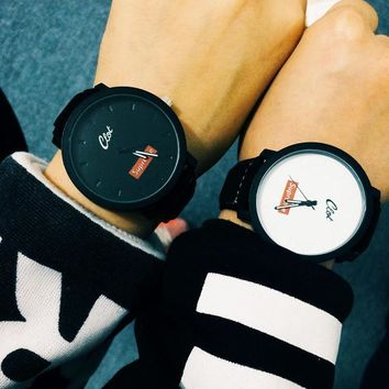 Supreme Trendy Casual Leather Watches Wrist Watch