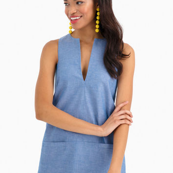 A Line Mod Top in Blue Chambray by Emerson Fry - Tnuck