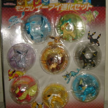 Takara Tomy Pokemon Pocket Monster Eevee Evolution 8 Mini Trading Collection Figure Set