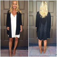 Draped In Love Cardigan - BLACK