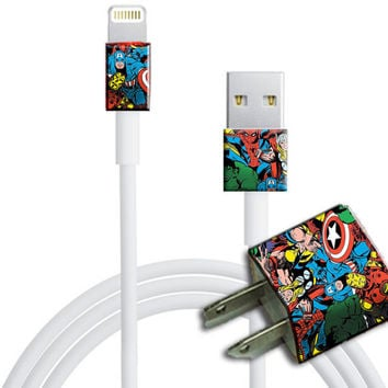 Comic  Iphone 5 Charger and Cube