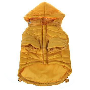 Lightweight Adjustable 'Sporty Avalanche' Pet Coat - Mustard Yellow: X-Small