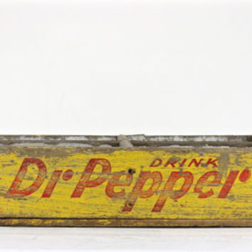 Soda Crate, Dr Pepper Crate, Pepsi Crate, Wood Crate, Vintage Soda Crate, Pop Crate, Industrial Decor