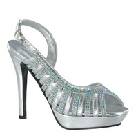 Formal Shoes - Touch Ups Theresa-4005 Silver Sandal