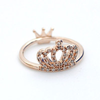 Royal Crown Ring detailed with CZ in 3 colors