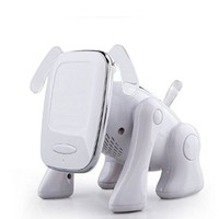 GoldMice Cartoon Robot Dog - Mini Home Theater Wireless Bluetooth Speaker for Mobile Devices & Bluetooth Devices support USB/TF Card Mp3 Music Fm Radio Hand free (White)