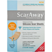 Scar Away Silicone Scar Treatment Sheets 8 Ct Ulta.com - Cosmetics, Fragrance, Salon and Beauty Gifts