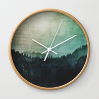Great mystical wilderness Wall Clock by HappyMelvin