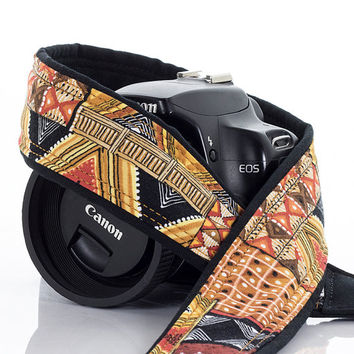Tribal Camera Strap, dSLR, SLR, Mirrorless, Camera Neck Strap, Canon strap, Nikon strap, Mens, Native American Inspired, Photography,  130