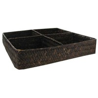 Straw Basket with 4-Compartments | Hobby Lobby