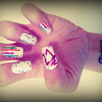 Set of Artificial Nails - Happy Birthday
