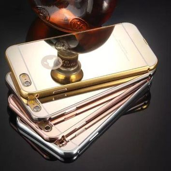 Apple Metal Iphone Phone Case Golden Mirror [6034131009]