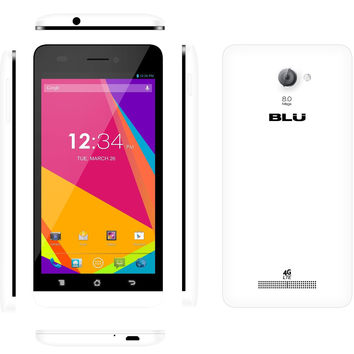 BLU Studio 5.0 Y530Q Unlocked GSM 4G LTE Quad-Core Cell Phone - White (Manufacturer Refurbished)