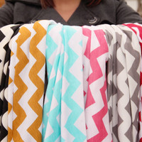 CHEVRON Infinity Loop Scarf your choice of color by Murabelle