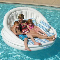 ISolstice Aqua Sofa With Instaflate Pool Float Raft Tanning Lake Bed Lounger