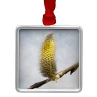 Willow Catkins - Silver World Metal Ornament