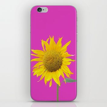 sunflower and pink iPhone & iPod Skin by anabprego