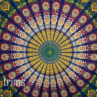 Hippie Hippy Wall Hanging , Indian Mandala Tapestry Throw Bedspread , Dorm Tapestry , Decorative Wall Hanging , Picnic Beach Sheet Coverlet