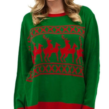 Plus Size Reindeer Games Sweater