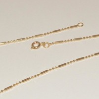 1-1553-e1 Gold Plated Beads 3x1 Link Chain
