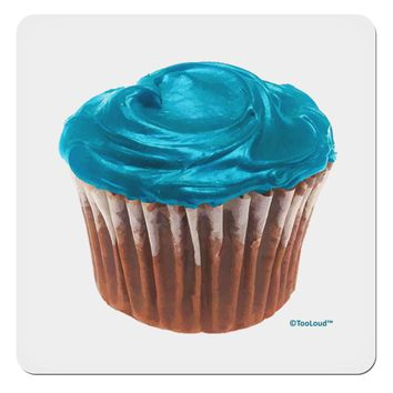 "Giant Bright Turquoise Cupcake 4x4"" Square Sticker by TooLoud"