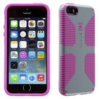 Speck CandyShell Grip Cell Phone Case for iPhone 5/5s - Grey/Pink (SPK-A2686)