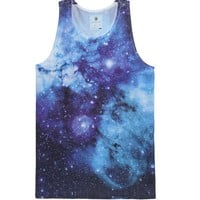 On The Byas Cosmic Swirl Sublimated Tank Top - Mens Tee - Blue -