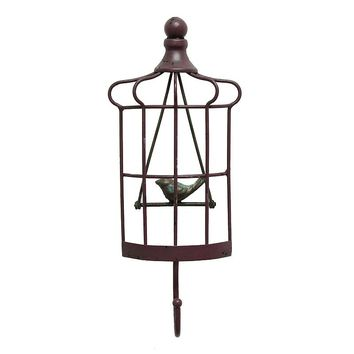 Stratton Home Bird Hook Metal Wall Decor (Purple)