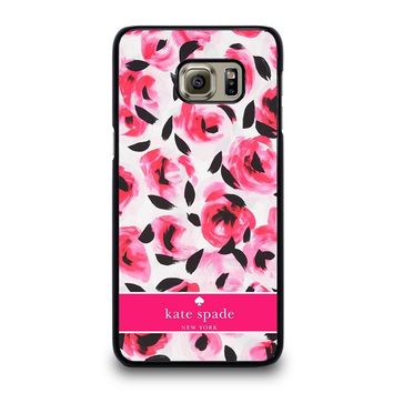 KATE SPADE NEW YORK PINK ROSE Samsung Galaxy S6 Case Cover