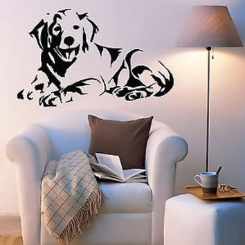 Golden Retriever Dog Puppy Breed Pet Animal Family Wall Sticker Decal Mural 2782