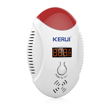 KERUI LED Digital Display Carbon Monoxide CO Detector Voice Strobe Alarm Sensor Home Alarm System Fire Detector
