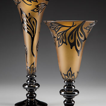 Blackthorn Goblets by Minh Martin (Art Glass Vessel) | Artful Home