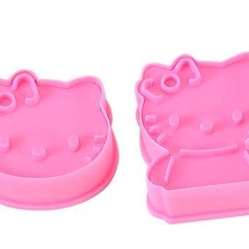 Home Cute Hot Deal On Sale Stylish Easy Tools Hot Sale Kitchen Helper Diy Biscuits Lovely Cats 2 Pcs Mould [6268312774]