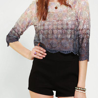 Sister Jane Tie Or Die Cropped Chiffon Top