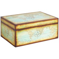 Antiqued Map Jewelry Box