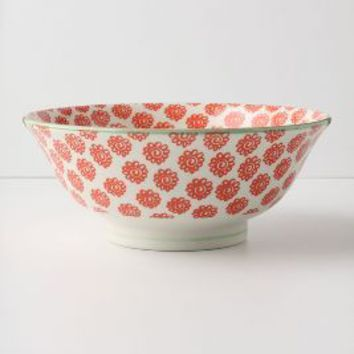 Atom Art Serving Bowls by Anthropologie in Red Size: One Size Serveware