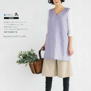 My Clothes Sewing by Yoshiko Mizuno - Japanese Pattern Book for Women - Skirt, Blouse, Tunic, One-Piece, Pants - Feminine and Natural - B703