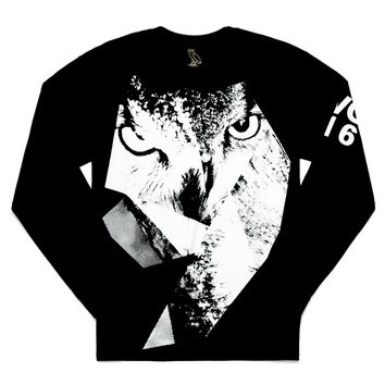 Owl Gaze Longsleeve T-Shirt | October's Very Own