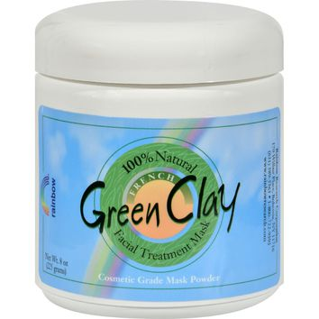 Rainbow Research French Green Clay Facial Treatment Mask - 8 Oz
