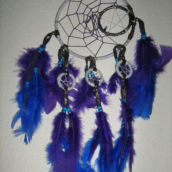 Native American Inspired Dream catcher to the Moon handmade by dreamcatcherman