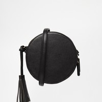 ASOS Round Shoulder Bag With Tassel at asos.com