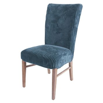 Milton Fabric Chair, Midnight Thames Blue (Set of 2)