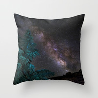 """""""Milky-way at the mountains"""". Summer  Throw Pillow by Guido Montañés"""