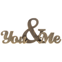 Brown You & Me Chunky Wood Phrase | Hobby Lobby