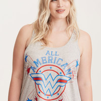 Wonder Woman Lace Inset Sleep Tank